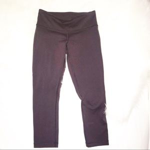 Lululemon dark plum colored Capri leggings size 4